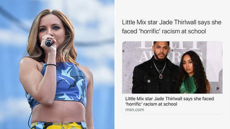 (L) Jade Thirlwall of Little Mix © AFP / GETTY IMAGES NORTH AMERICA / Getty Images / Bryan Steffy; (R) © Instagram story screenshot / Jade Thirlwall