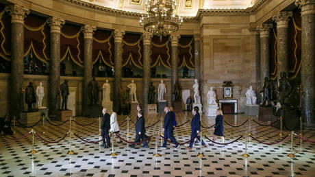 FILE PHOTO: Statuary Hall in the US Capitol in Washington, US
