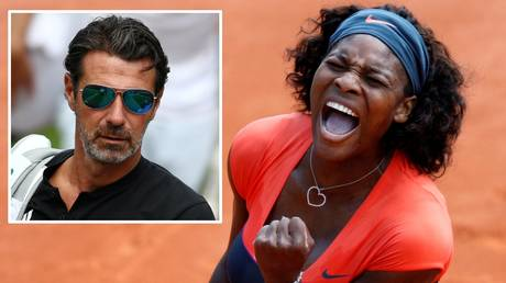 Serena Williams and (inset) her coach, Patrick Mouratoglou