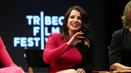 """FILE PHOTO: Anita Sarkeesian at the screening for """"Netizens"""" during the 2018 Tribeca Film Festival at SVA Theatre on April 22, 2018 in New York City"""