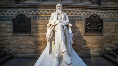 Charles Darwin statue in the main hall of the Natural History Museum in South Kensington in London, UK © NurPhoto via Getty Images / Nicolas Economou