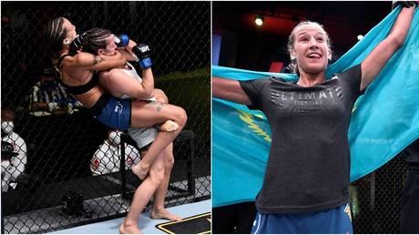 Kazakh UFC fighter Mariya Agapova. © Getty Images / Zuffa LLC