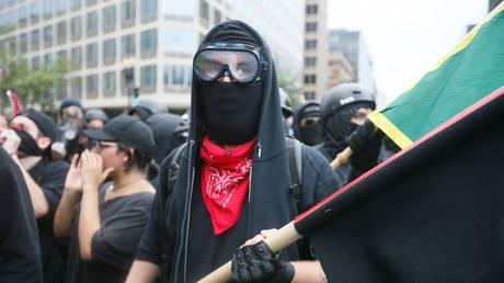 FILE PHOTO: Antifa march in Washington in 2018
