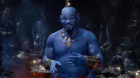 Will Smith as Genie in Aladdin movie (2019) Dir: Guy Ritchie © Disney