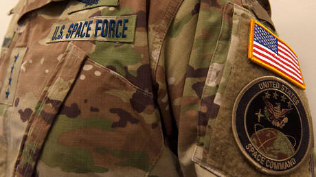 US Space Force uniform in an undated file photo released January 17, 2020.