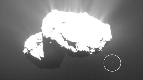 Image of the Churyumov–Gerasimenko comet taken by the of Rosetta mission. ©ESA