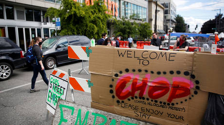 The so-called 'Capitol Hill Occupied Protest' zone in Seattle, Washington. June 14, 2020. © Lindsey Wasson / Reuters