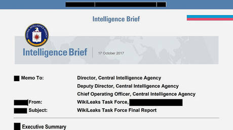 Screenshot of the first page of the CIA WikiLeaks Task Force's final report