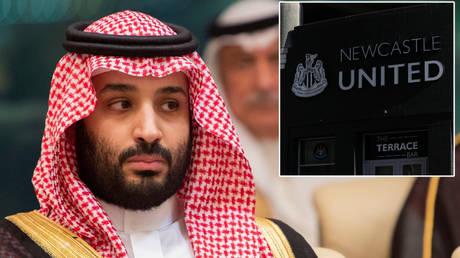 Saudi Crown Prince Mohammed bin Salman © Bandar Algaloud / Courtesy Saud via Reuters | Newcastle United © Lee Smith via Reuters