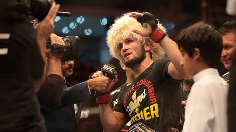 UFC lightweight champion Khabib Nurmagomedov. © Reuters