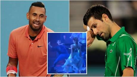 Nick Kyrgios and Novak Djokovic. © Reuters / Screenshot Twitter