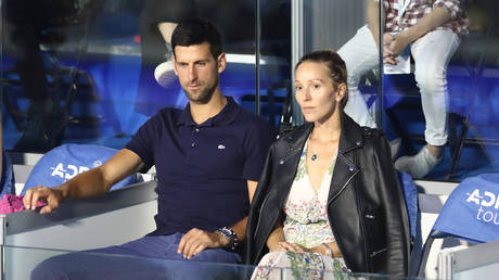 Novak Djokovic and wife Jelena. © Reuters
