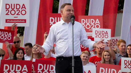 Polish President Andrzej Duda attends election rally in Bialystok, Poland June 20, 2020