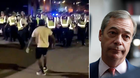 Result of pandering to BLM? Farage blames Brixton riot on media and politicians 'encouraging an anti-police organization'