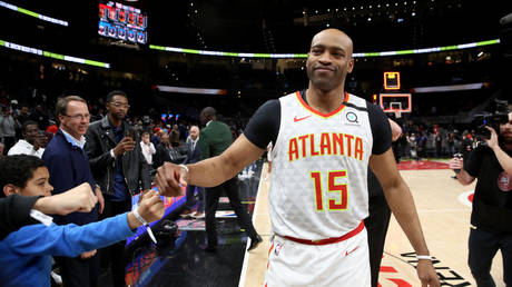 Retiring Atlanta Hawks guard Vince Carter. © USA TODAY Sports