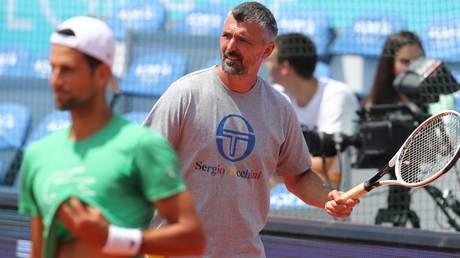 Novak Djokovic's coach, Goran Ivanisevic
