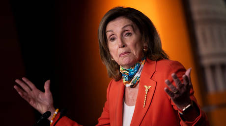 Nancy Pelosi during the June 26 press conference.
