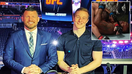 Michael Bisping © Instagram / mikebisping | The Dagestani handcuff © Instagram / raverbasher