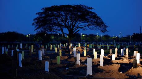Tegal Alur cemetery complex in Jakarta, Indonesia, June 27, 2020