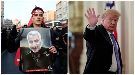 Funeral procession for Qassem Soleimani. ©Nazanin Tabatabaee / WANA via REUTERS / ©REUTERS / Tom Brenner