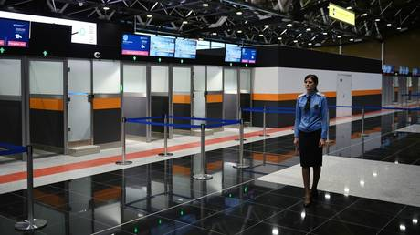 FILE PHOTO: Moscow Sheremetyevo airport passport control zone.