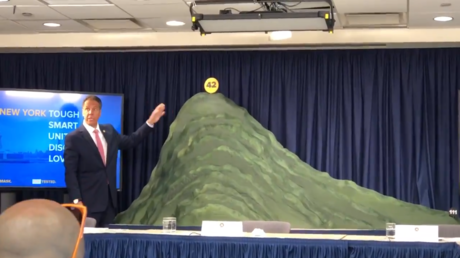 'One big pile of s**t': NY Gov. Cuomo's 'Covid-19 mountain' arts & crafts moment fails to impress