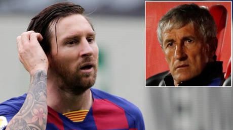Lionel Messi © Miguel Vidal / Action Images via Reuters   Quique Setien © Albert Gea / Action Images via Reuters