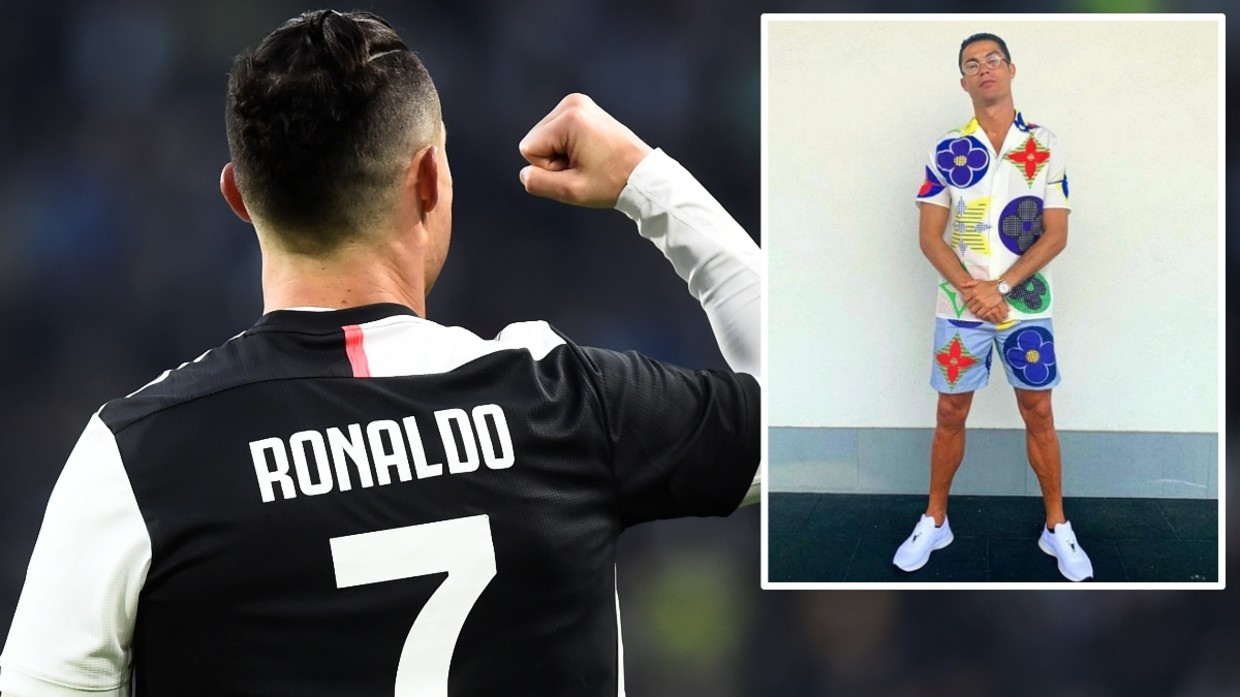 Flower Power Cristiano Ronaldo Wows Followers On Instagram With Multi Colored Shirt And Shorts Outfit Rt Sport News