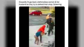 Woman BEATEN with PLANKS as she tries to defend store from looters (DISTURBING VIDEO)
