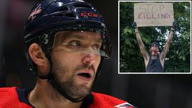 'Respect and love each other': Hockey superstar Alex Ovechkin calls for calm and unity as police brutality protests rage on