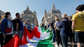 Italy's opposition parties and supporters defy social distancing rules at anti-govt rally