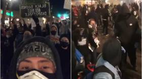 Portland mayor lifts curfew for good behavior but '2nd-chance' protest swiftly descends into violence (VIDEOS)