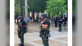 'Who are you?' UNMARKED riot police patrolling Washington DC streets but WON'T IDENTIFY themselves
