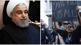 'Shame' for Trump to hold Bible as protests rage: Iranian president slams 'brutal' killing of George Floyd