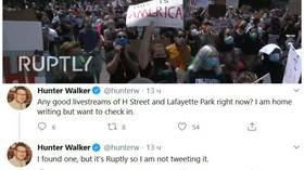 'It's Ruptly, I'm not tweeting it': Yahoo WH correspondent ridiculed for not sharing LIVESTREAM from protest because it's RUSSIAN