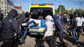 Black Lives Matter protest in Sweden descends into violence and vandalism (VIDEOS)