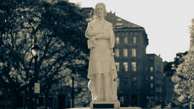 Yet ANOTHER Columbus statue vandalized, as Boston protesters behead monument (PHOTOS)