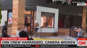 CNN crew attacked by Atlanta mob moments before Wendy's restaurant goes up in flames (VIDEO)