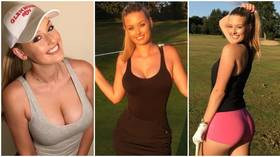 'I'm ECSTATIC': Golf starlet Bella Angel thrills fans in tight outfit on Instagram as she pitches up to swing with the stars again