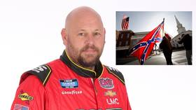 Flag fury: NASCAR racer Ciccarelli says family have been 'attacked and abused' after his rant over ban on Confederate symbols