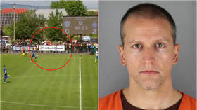 Ukrainian football fans unfurl 'Free Derek Chauvin' banner in support of ex-cop charged with killing George Floyd