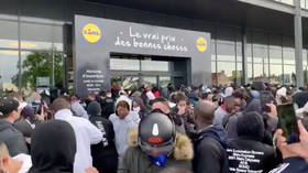 WATCH: French police pepper-spray baying mob as Lidl PS4 sale spirals out of control