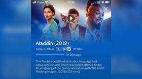 'Outdated attitudes' in a 2019 movie? UK's Sky Cinema blasted for adding 'trigger warning' to remake of Aladdin