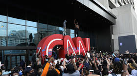 'Will Donald Trump get an apology?': CNN dragged for building 'wall' around HQ following attack by protesters