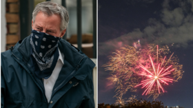 'If we can't sleep, you won't sleep': New Yorkers hold noisy protest against illegal fireworks outside Mayor de Blasio's home