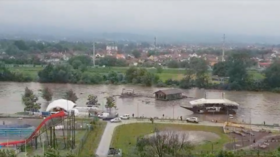 WATCH: Raging River Ibar SMASHES two boats into bridge as flooding forces evacuations across Serbia
