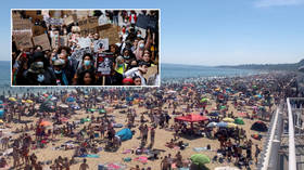 'But protests are OK?' UK government raises eyebrows with threat to close beaches at height of summer