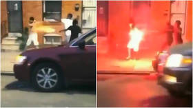WATCH mob unleash brutal fireworks attack on man in Baltimore