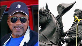 'Black people don't give a damn about statues': BET founder mocks woke whites toppling monuments to assuage racial guilt