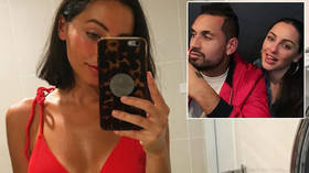 Flirty love: Nick Kyrigos says he has moved on from Russian tennis player Anna Kalinskaya but admits his mind is a 'f*cked place'